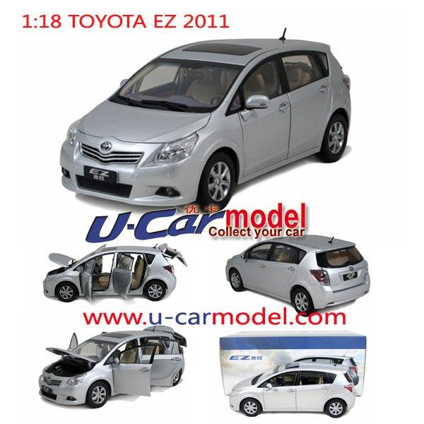 1 pcs /lot 1:18 TOYOTA EZ VERSO 2011 Die-cast Car model (Silver) on sale(China (Mainland))
