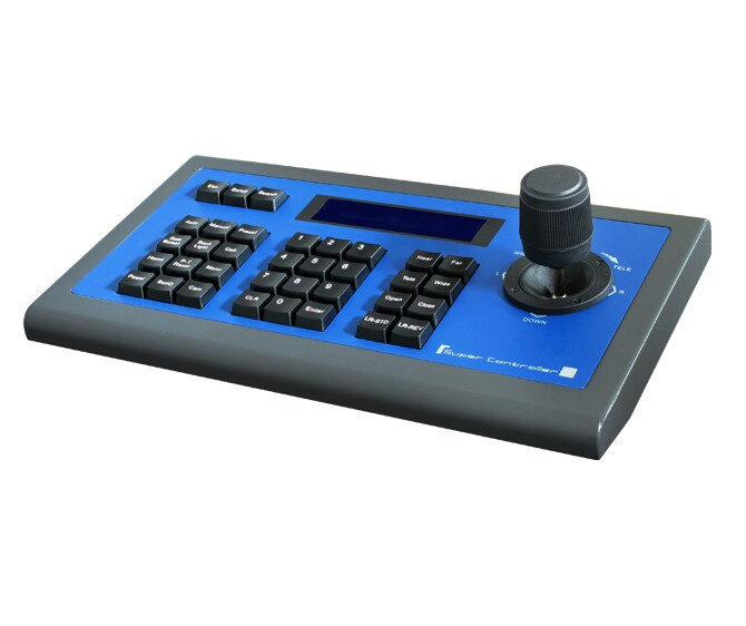 SK-CV03 3D PTZ Keyboard Controller LCD display For CCTV PTZ Camera and Video Conference Camera,RS485,RS422,RS232,Pelco-P/D,VISCA(China (Mainland))