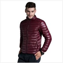 2016 Winter Man Down Jacket Wine Red Light Thin Plus Size Parka Fashion Outerwear Coat Brand Clothing Down Jacket For Men(China (Mainland))