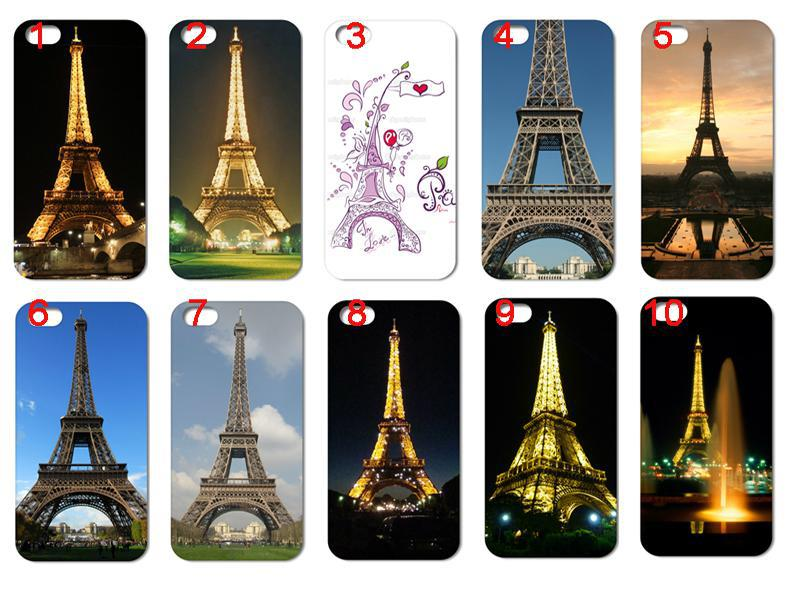 2013 Hot New Fashion 10pcs/lots Paris eiffel tower hard white case cover for iphone 4 4G 4S + free shipping(China (Mainland))
