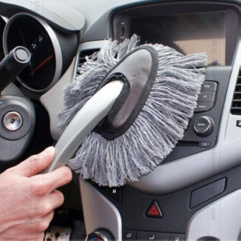 Super Sale!! 1 Pieces Multi-functional Car Duster Cleaning Dirt Dust Clean Brush Dusting Tool Mop Gray Free shipping(China (Mainland))