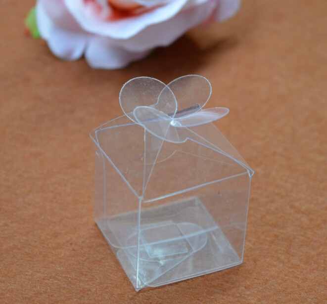 mini plastic box transparent clear wedding favor boxes/clear pvc packaging box wedding candy boxes(China (Mainland))