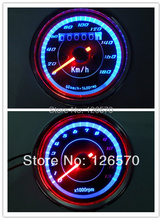 12V Easy to install Universal Motorcycle LED Backlight  Odometer+Tachometer Speedometer Speedo meter Tacho 180 km/h 13000RPM(China (Mainland))