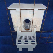 pigeon automatic single slot groove trough feed partridge Chicken peacock Parrot Birds article feeding plastic box Race pigeon(China (Mainland))