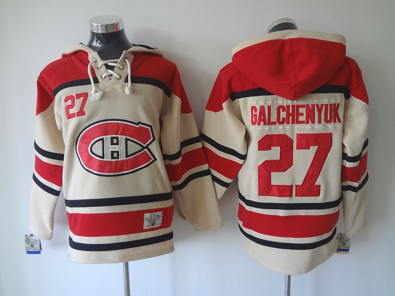 NHL Montreal Canadiens Mens Ice Hockey Hoodies #27 ALEX GALCHENYUK Ivory Hoodies829<br><br>Aliexpress