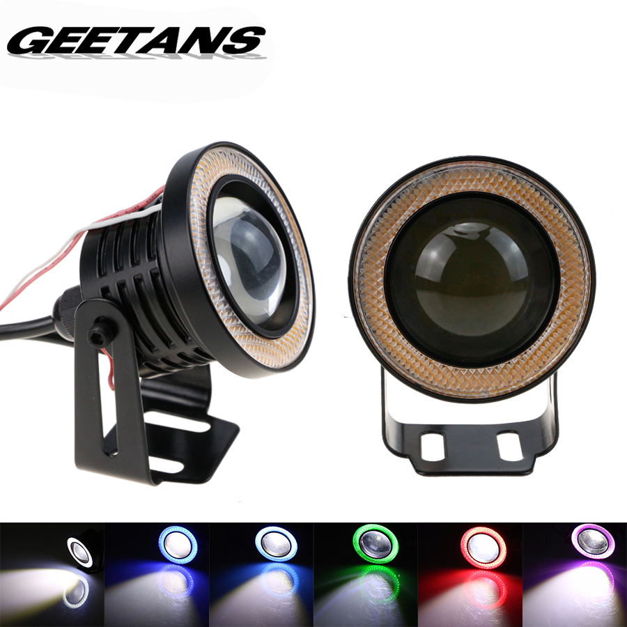 GEETANS 2 pcs/Set 2.5/3/3.5 Inch COB Angel Eyes Fog Lamps Daytime Running Lights Car DRL Any Car 12v IP67 waterproof led eye(China (Mainland))