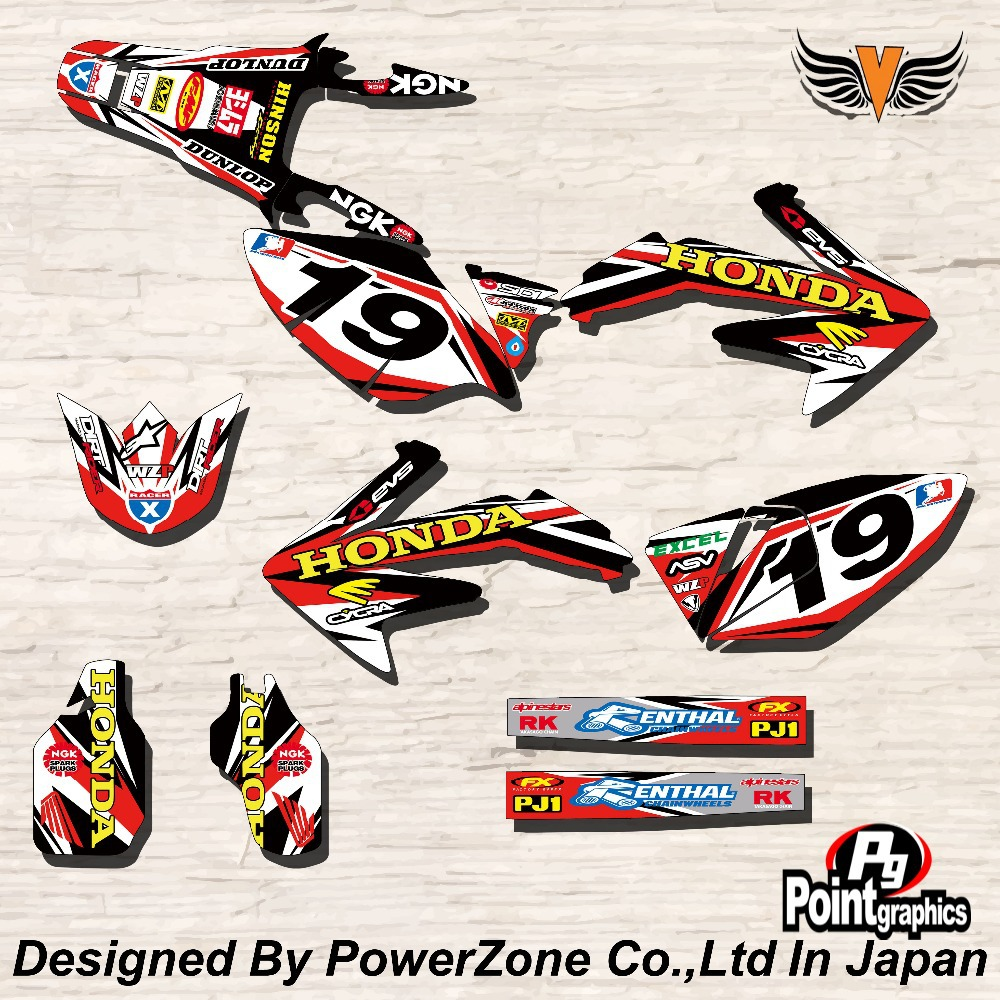 CRF CRFX XR CRM 125 250 450 650 Team Graphics Backgrounds Decals Stickers Ghost Motorcross Motorcylce Dirt Bike MX Racing Parts