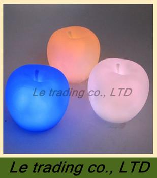5pcs Apple Shape Colors Changing Cute Lamp Colorful LED Lamp Decoration Night Light B-005 FREE SHIPPING