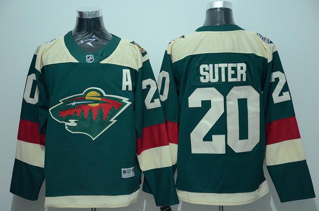 Cheap! Men's 2016 Stadium Series Jersey authentic Minnesota Wild #20 Ryan Suter Home Green stitching High quality Ice Hockey Jer(China (Mainland))