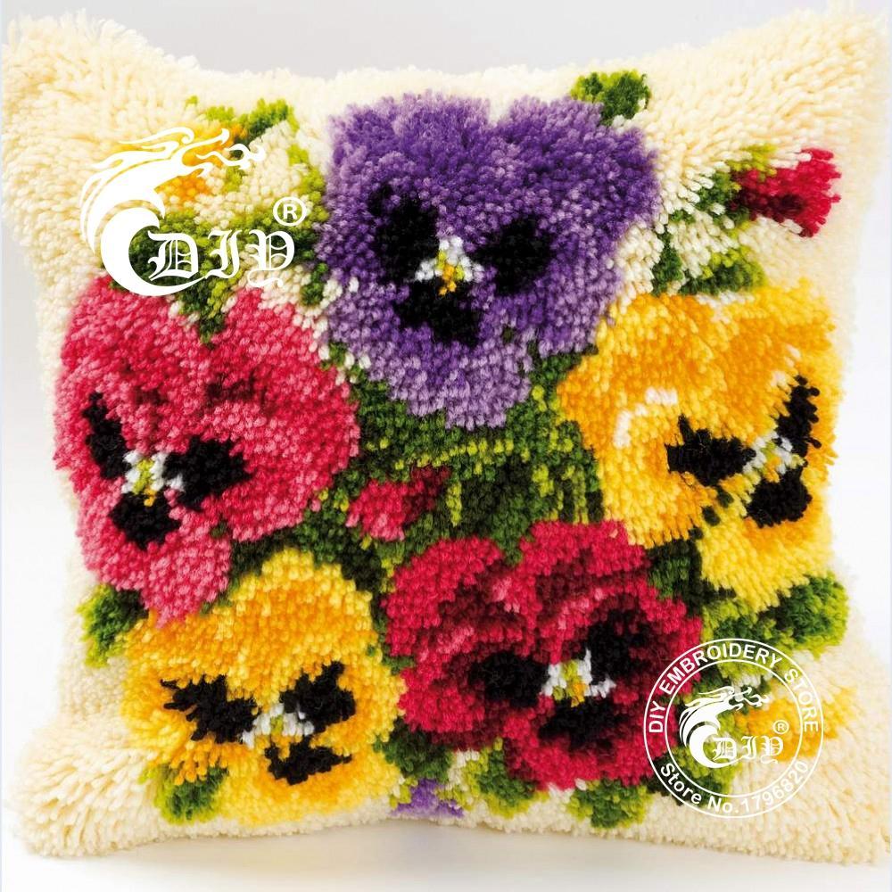 Aliexpress Com Buy Latch Hook Cushion Kits Gift Diy