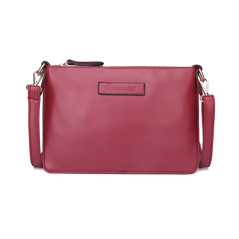 2016 New fashion small women messenger bags square red pu leather cross body bags for girls ladies shoulder bags bolsa(China (Mainland))