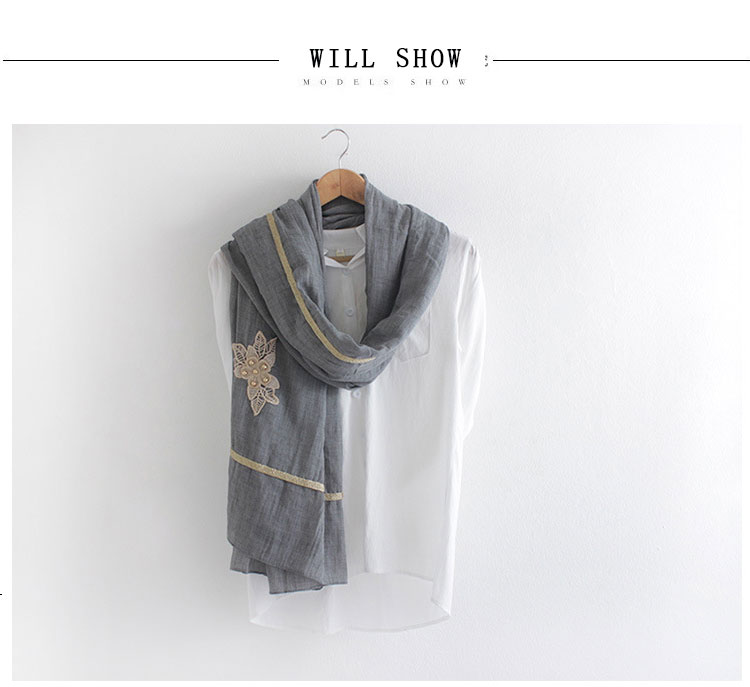 2016 Nationalities wind embroidery butterfly large cotton and linen scarf shawl autumn and winter warm decorative scarf