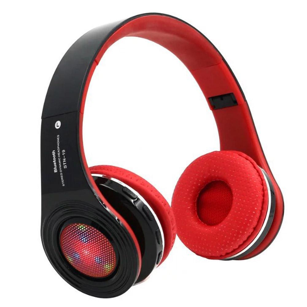 Colorful Lights Wireless Headphone Headband STN-19 Bluetooth 4.1 Music Headphones with Mic FM/TF for Xiaomi Apple Samsung HTC LG(China (Mainland))