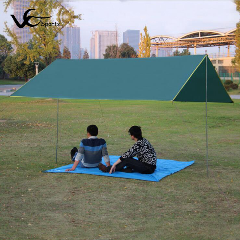 4-6 person tent taping floor mat 300*300cm oversized ground fabric 1000g outdoor camping 210D Oxford cloth damp proof picnic mat(China (Mainland))