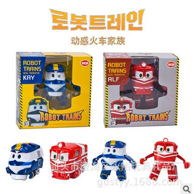 2016 free shipping new style South Korea dynamic train family trains robot dynamic train toy for children gift(China (Mainland))