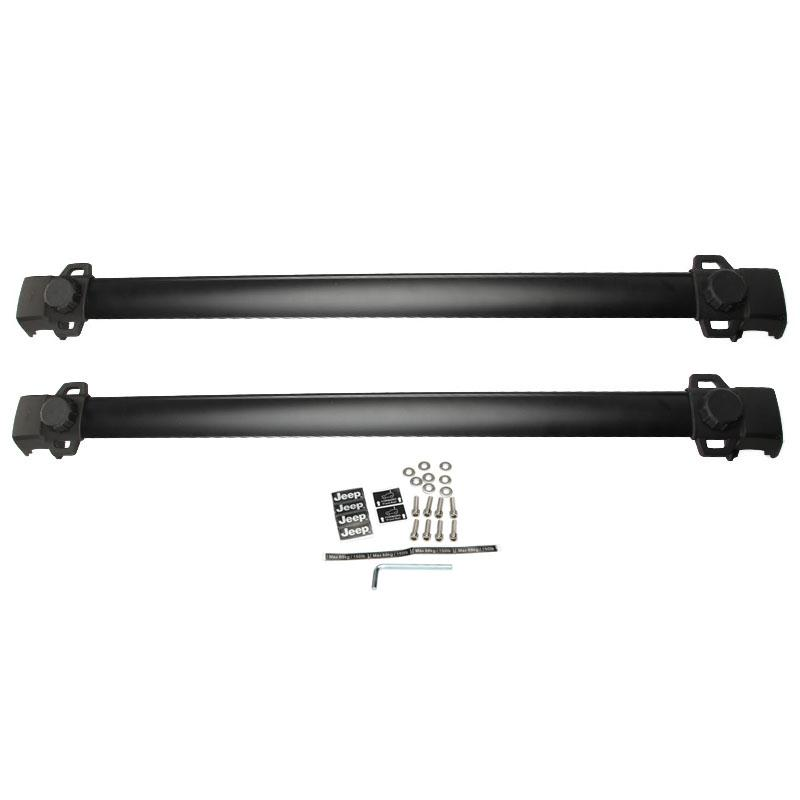 2pcs/set Black Adjustable Aluminum 150LBS Car Top Carrier Roof Rack Cross Bars Fit For Jeep Compass(China (Mainland))