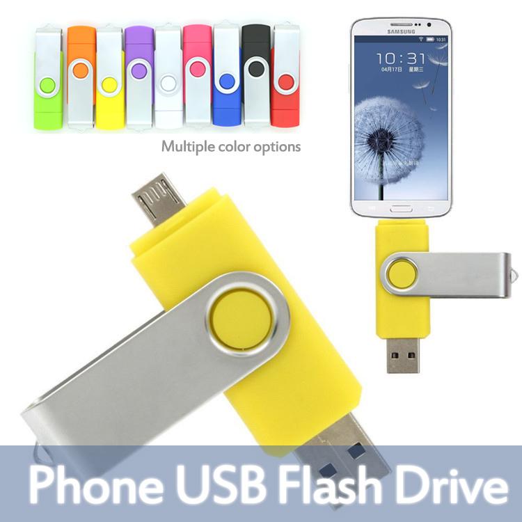 Hot! 360 Rotate Metal OTG flash drive Full Size 8G 16G 32G 64G USB2.0 Flash Memory Stick Thumb/Car/Pen Drive(China (Mainland))