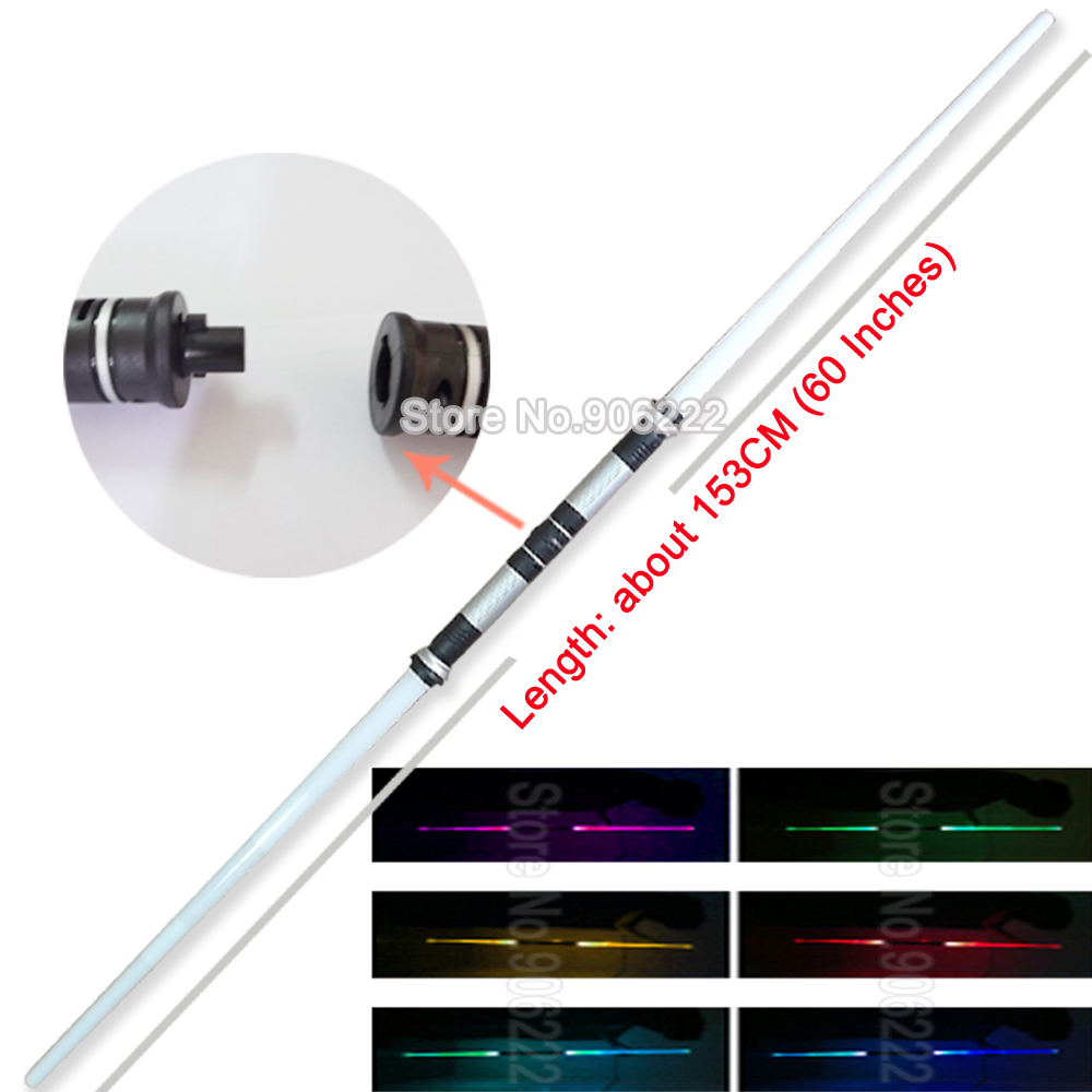 (2 pieces/lot) Star Wars Lightsaber Led Flashing Light Sword Toys Cosplay Weapons Double Sabers for boys(China (Mainland))