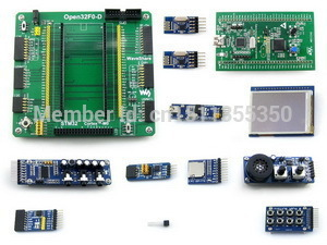 STM32 Cortex-M0 Development Board STM32F051R8T6 With STM32F0DISCOVERY Kit+2.2inch Touch LCD+9 Modules+Free Shipping(China (Mainland))