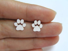 New Fashion Cute Paw Print Earrings for Women Cat and Dog Paw Stud Earrings E124(China (Mainland))