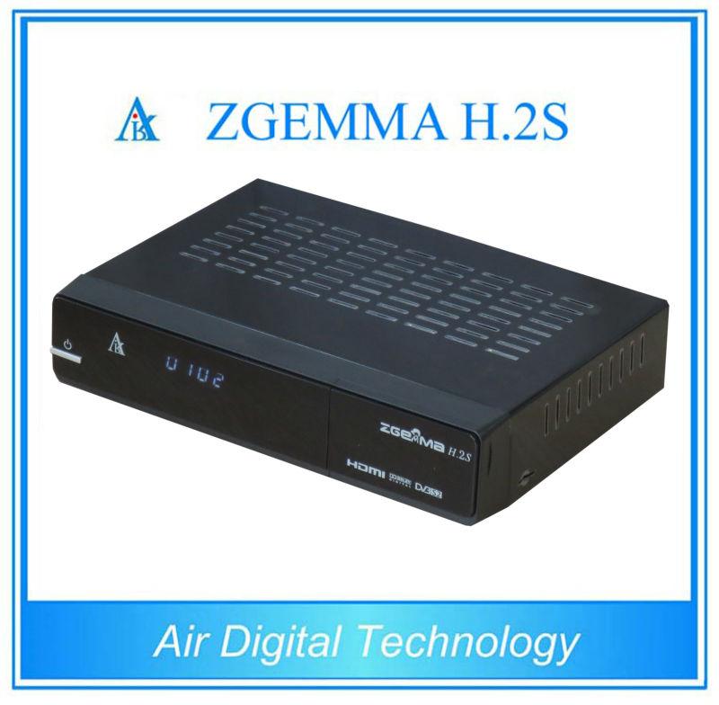 5 pcs/lot DVB S/S2 twin tuner enigma 2 Linux dual core cpu ZGEMMA H.2S Satellite tv decoder no dish(China (Mainland))