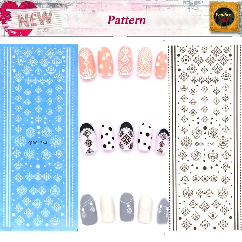 DS264 DS265 Water Transfer Nails Art Sticker Winter Style White Snowflake Nail Wraps Sticker Watermark Fingernails Decals(China (Mainland))