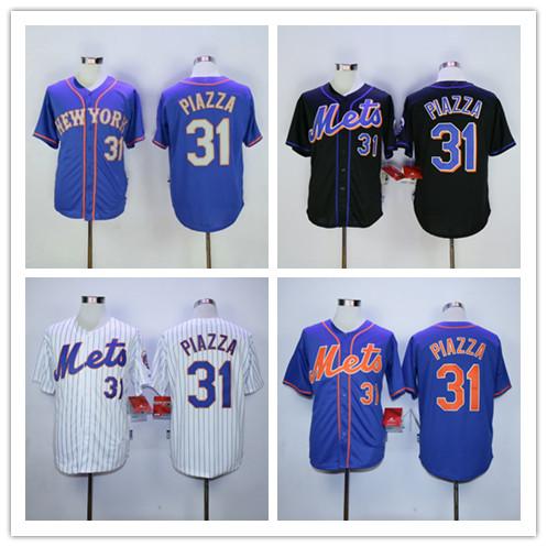 2016 Men's #31 Mike Piazza Baseball jerseys 100% Stitched Cool Base Jerseys White blue black(China (Mainland))