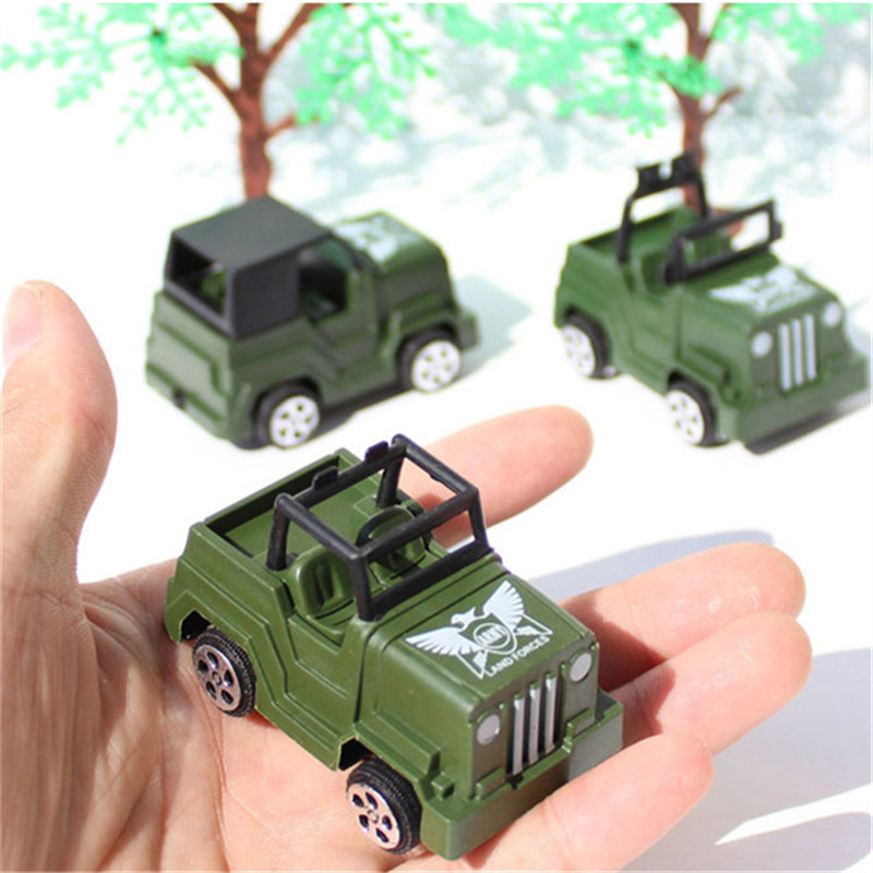 3Pcs/Lot Military mini car model jeep / off-road vehicle toys cool children birthday gifts(China (Mainland))