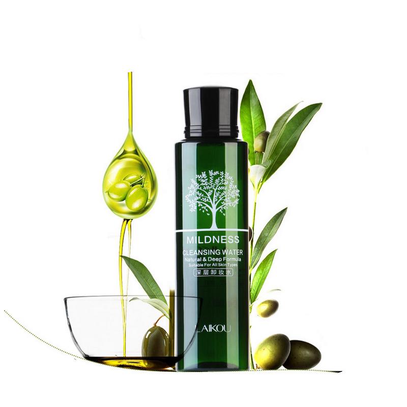 Косметика оливковое очищение воды для снятия макияжа уменьшить поры моющее средство быстро растворяются глубокие и чистые очистить влажный мягкий