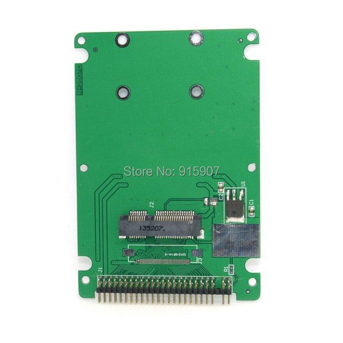 """CY White Color Mini PCI-E mSATA PSATA to 2.5"""" IDE 44pin Hard Disk Case Enclosure For Inspiron 910 Mini 9 SSD(China (Mainland))"""