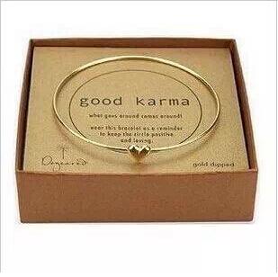1pcs gold bangle fashion brief sweet gold thin heart bangle for girls Lucky women men bracelet wholesale no box packing(China (Mainland))