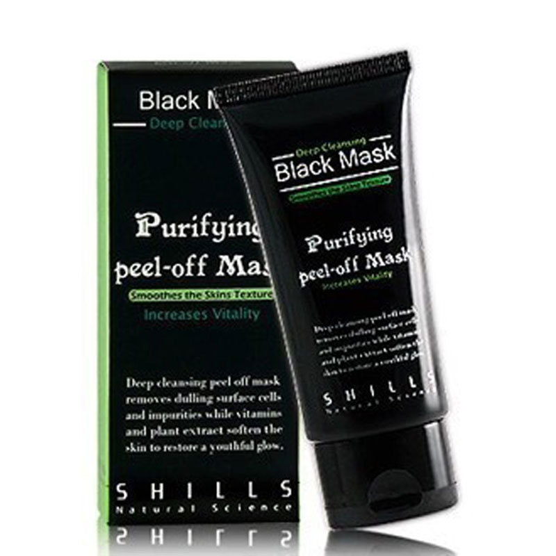1PCS Deep Cleansing Purifying Peel Off Black Mud Face Mask Remove Blackhead Black Mask 50ml Black Head Pore Strip(China (Mainland))