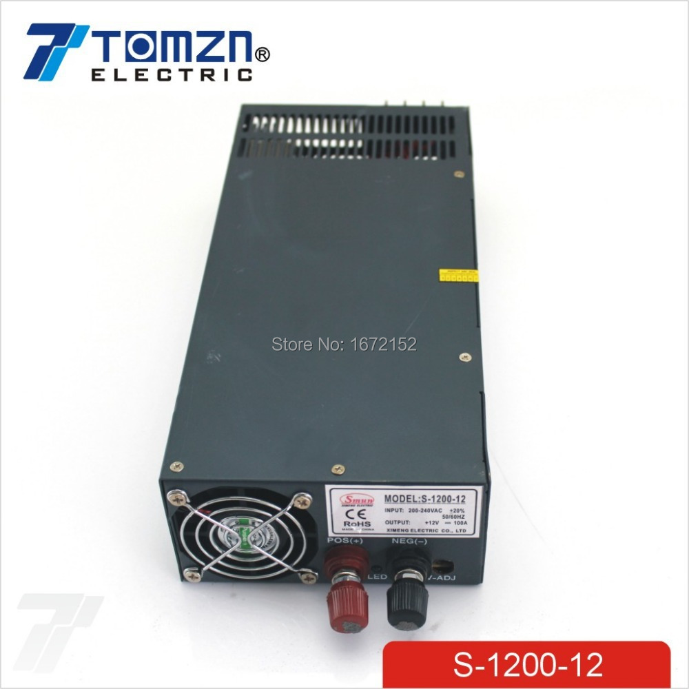 1200W 12V 100A adjustable 220v INPUT Single Output Switching power supply for LED Strip light AC to DC(China (Mainland))