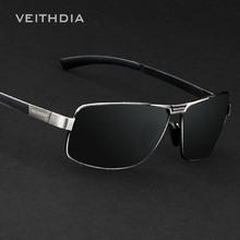 Luxury Brand Veithdia Polarized UV400 Sunglasses For Men's Driving Car Sports Fishing Male Square Full Frame Sun Glasses Driver(China (Mainland))