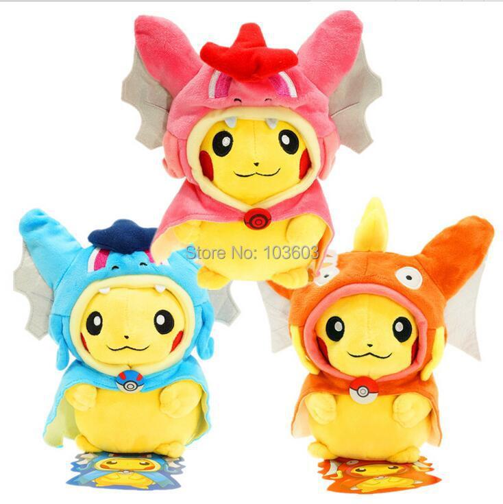20cm Pokemon Pikachu Cosplay Gyarados Magikarp Flash Cartoon Video Movies PP Cotton Stuffed Animals Plush Toys
