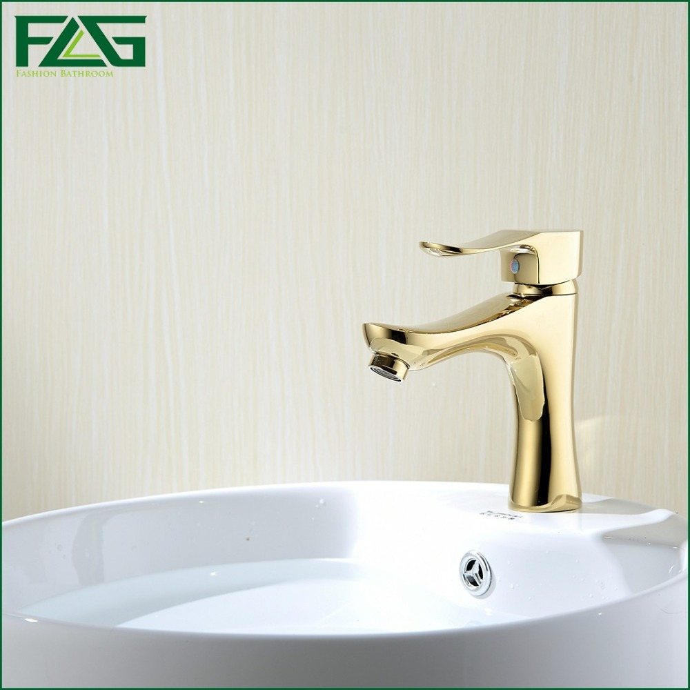 FLG English Style Basin Faucet Golden Plate Single knob Cold&Hot Deck Mounted Brass Tap Fontaneria Garden Golden Color Tap M062X(China (Mainland))