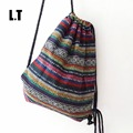 2017 Female Vintage Backpack Gypsy Bohemian Hippie Tribal Ethnic Retro Folk Boho Knitting Woven Femanine Drawstring
