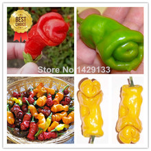 Penis Chill Red Hot Peter Pepper seeds 200pcs Vegetables & fruit seeds The most funny peppers Bonsai plants Seed for home garden(China (Mainland))
