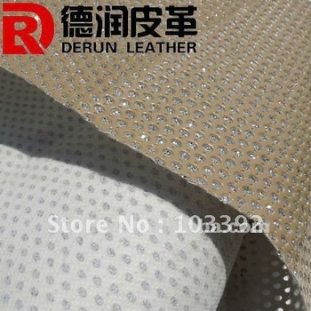mural wallpaper, yellow shiny pu synthetic leather for sofa with good quality