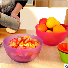 Creative Kitchen Accessories Fruit Salad Bowl Smooth Surfce High Quality PP Stir Bowl Free Shipping