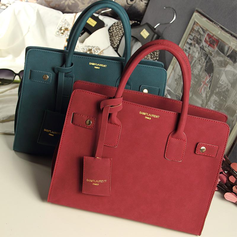 2013 womens handbag fashion ol fashion nubuck leather handbag DAPHNE platinum<br><br>Aliexpress