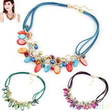 Women's Shell Jewelry Beads Handmade Choker Collar Statement Pendant Necklace