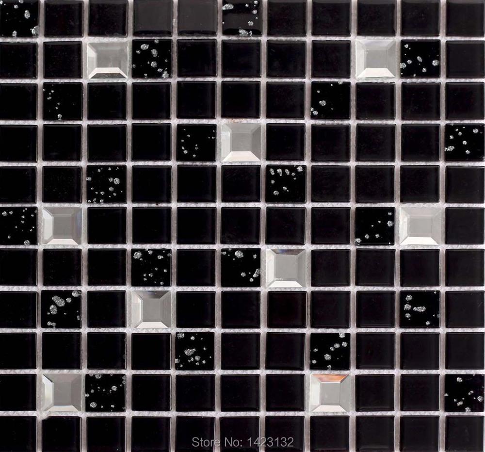 diamond glass tile black crystal mosaic tile 10044 kitchen