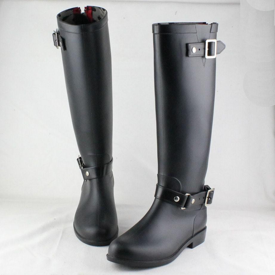 2015 New Fashion Women Shoes Punk Style Rain Boots Zipper Shoes Waterproof Welly Boots Women Rain Boots Water Shoes(China (Mainland))