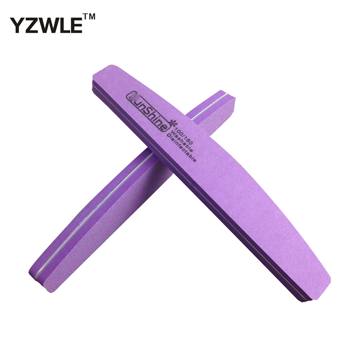 Double Side 100/180 High Quality Nail File Buffer Sanding Washable Manicure Tool, 6 Color For Choose + Free Shipping (NR-WS29)