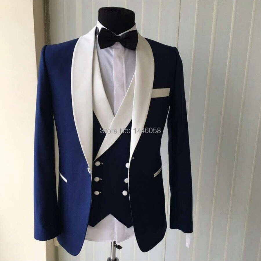 Custom-Made-Groomsmen-Shawl-White-Lapel-Groom-Tuxedos-Blue-Men-Suits-Wedding-Best-Man-Blazer-Jacket