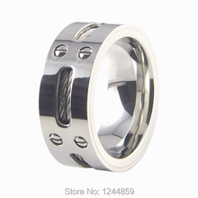 Titanium 316L Stainless Steel Steel wire Screw  Ring Fashion Men's Jewelry, man ring Good gifts  Free shipping wholesale