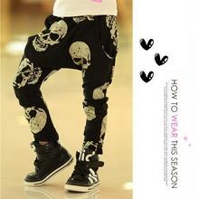 Hot Sale Children Brand Clothing Kids Skull Pants Boys Girls Cartoon Trousers Baby Harem Pants Free Shipping