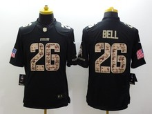 100% Stitiched,Pittsburgh Antonio Brown Le'Veon Bell Ben Roethlisberger rush for men camouflage(China (Mainland))