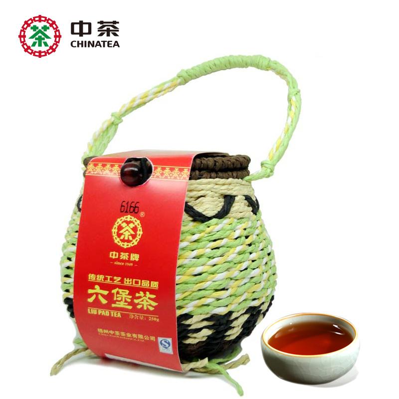 250g Chinatea dark tea Liupao Tea mellow and sweet basket loose bulk tea gift packing<br><br>Aliexpress